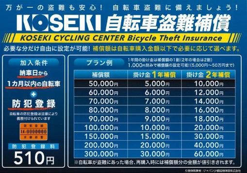 自転車盗難補償